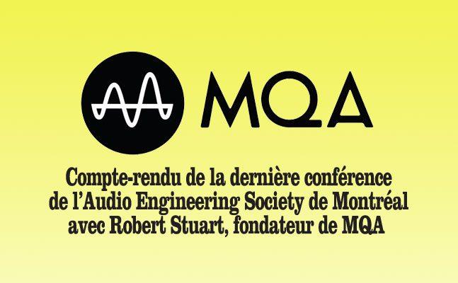 Robert Stuart de MQA de passage à Montréal à l'invitation de l'AES