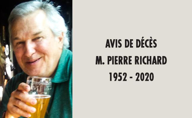 Avis de décès :  Pierre Richard